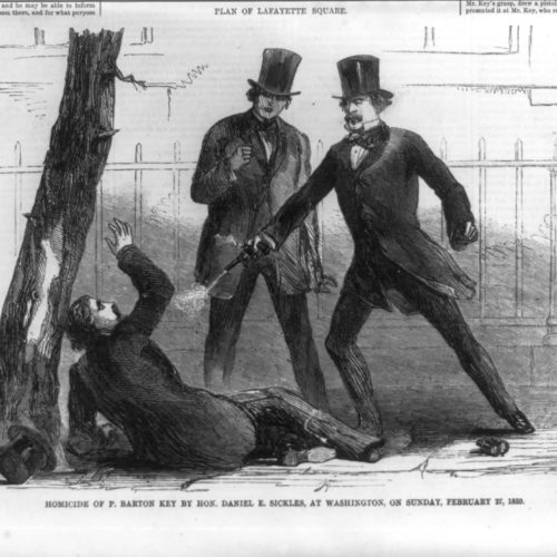 Insanity Defense illustration in Harper's Weekly, February 27, 1859. Library of Congress.