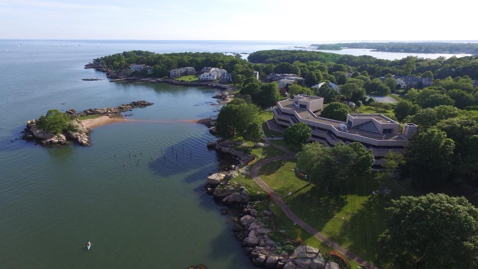 Contemporary aerial photo of America's first hospice in Branford, CT, still in operation today.