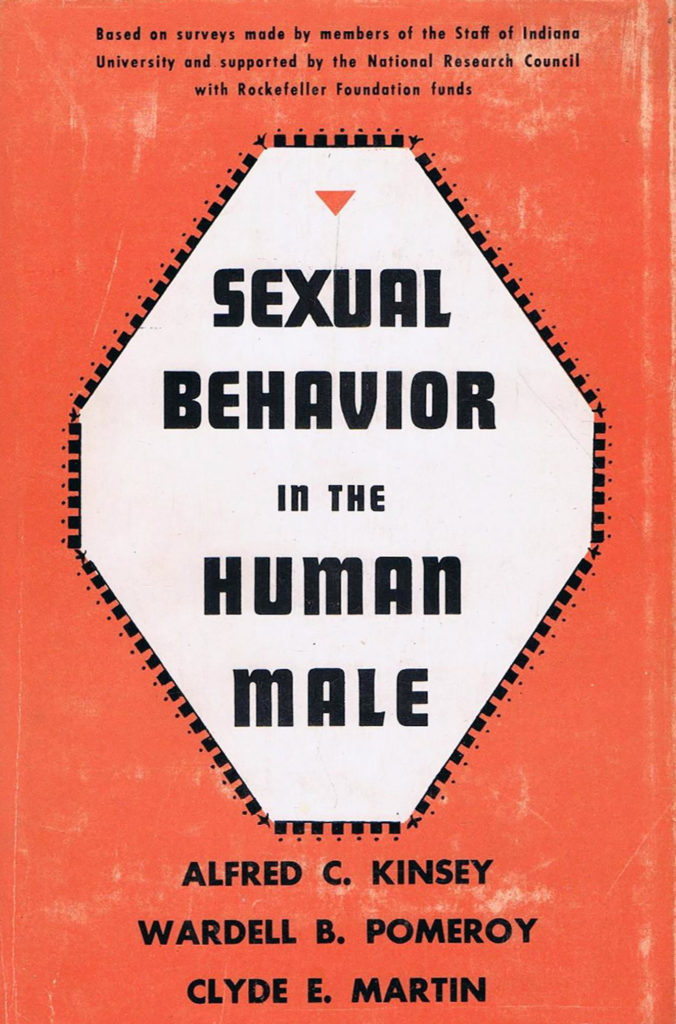 Book cover of Alfred Kinsey, Wardell Pomeroy, and Clyde Martin, Sexual Behavior in the Human Male, 1948