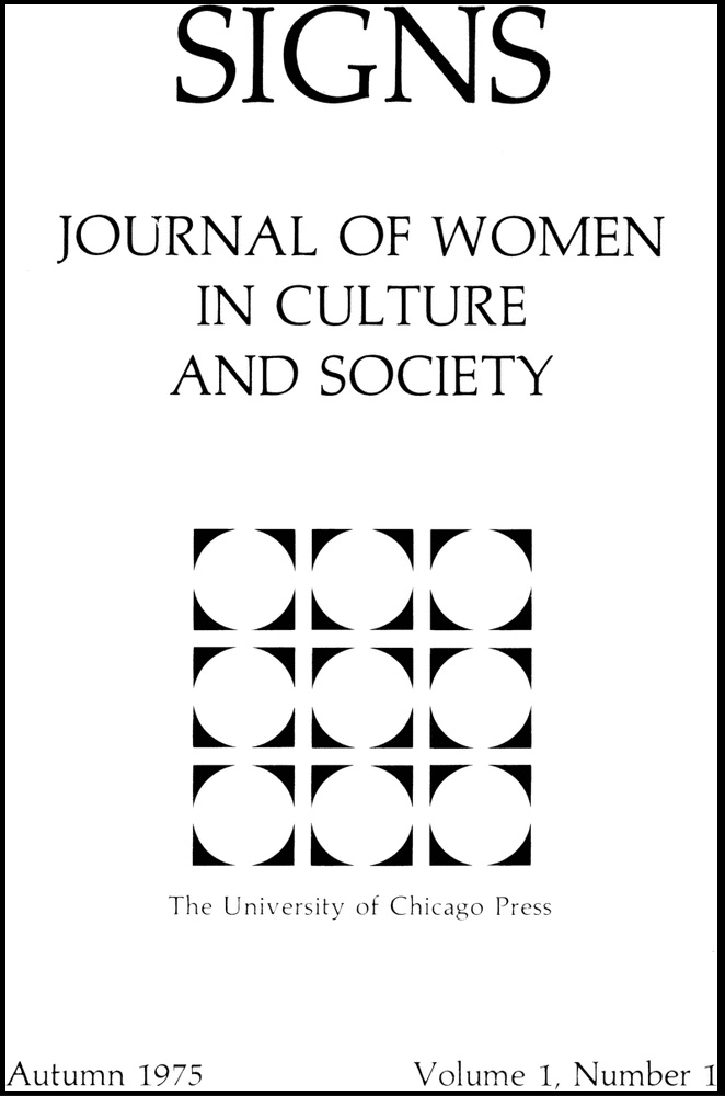 Cover of the first volume of Signs, Journal of Women in Culture and Society, 1975