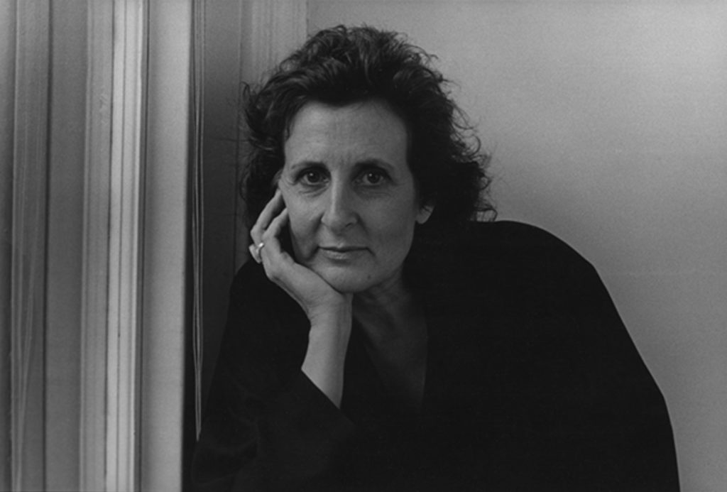 Portrait of American choreographer Trisha Brown in 1987.