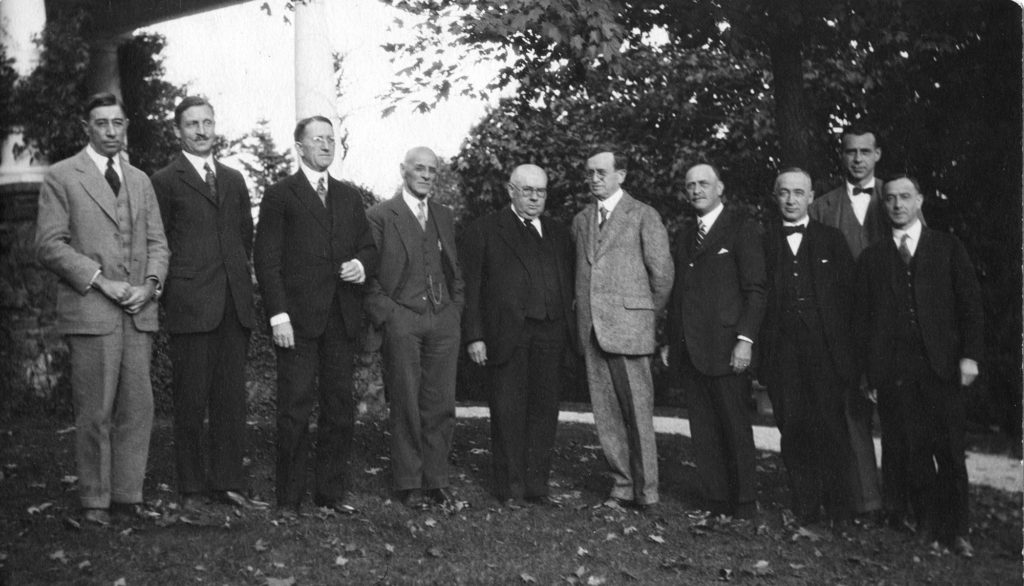This photograph of ten officers of the General Education Board shows that they were all white men
