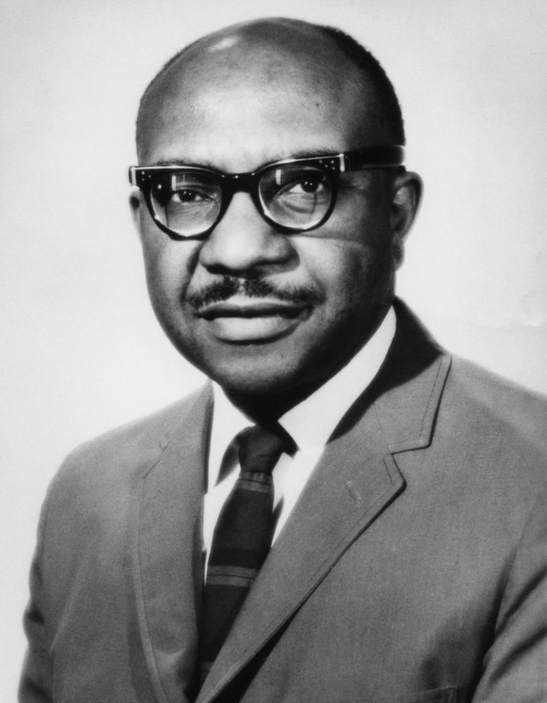 Portrait of Bryant George, an African American program officer of the Ford Foundation